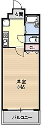 EVANS祇園[502号室号室]の間取り