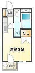 城北興和マンション[4階]の間取り