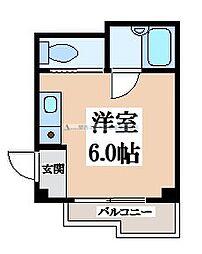 ハイツ菱屋[1階]の間取り
