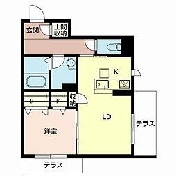shamaison Fuso[1階]の間取り