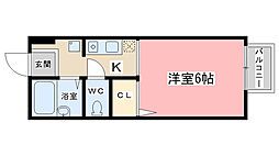 プチメゾンKONDO[201号室]の間取り