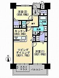 ロイヤルガーデン中山下弐番館[2階]の間取り