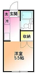 スターハイム鶴川[1階]の間取り