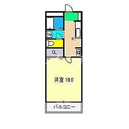 エスポアール(北久保)[3階]の間取り