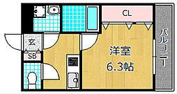 リバティKM[2階]の間取り