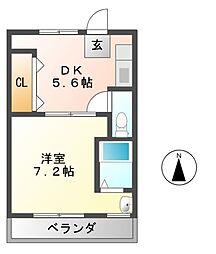 ヴィラナリー富田林1号棟[4階]の間取り