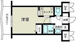 ノルデンハイム新大阪II[8階]の間取り