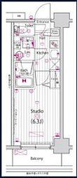 JR京浜東北・根岸線 横浜駅 徒歩15分の賃貸マンション 9階1Kの間取り