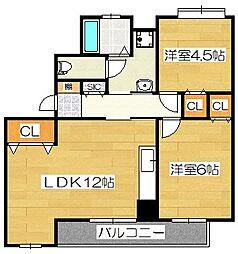 桜台第2グリーンコーポ[3階]の間取り