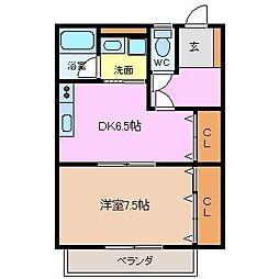 コーポオレンジハウス[E号室]の間取り