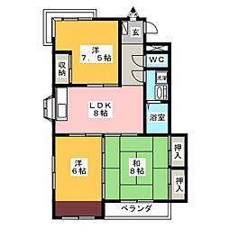 メゾン徳V[4階]の間取り