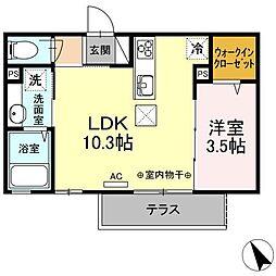 コレサ新井田公園[1階]の間取り