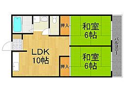 加島第二マンション[2階]の間取り