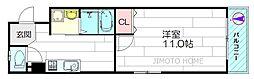シャトー垂水[8階]の間取り