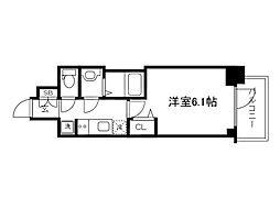 Osaka Metro長堀鶴見緑地線 松屋町駅 徒歩4分の賃貸マンション 2階1Kの間取り