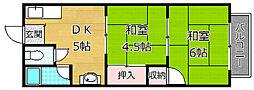 河合ハイツ(渚西)[1階]の間取り