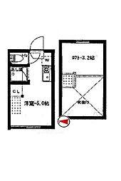 東京都新宿区北山伏町の賃貸アパートの間取り