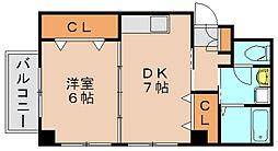 ラガール箱崎[2階]の間取り