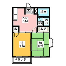 プラネットII[2階]の間取り