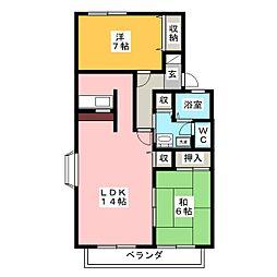 カーサベルデII[2階]の間取り