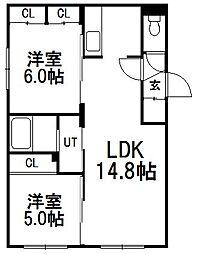 白石中央17[1階]の間取り