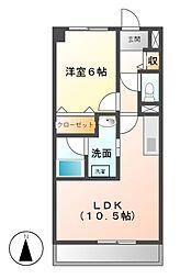 愛知県名古屋市天白区荒池2の賃貸マンションの間取り