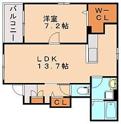グランベル和田II[1階]の間取り
