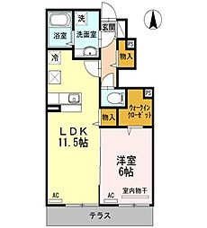 東京都練馬区中村南3丁目の賃貸アパートの間取り