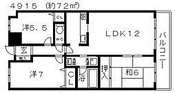 アビデ藤井寺[403号室号室]の間取り