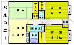 バニーメドー弐番館[2階]の間取り