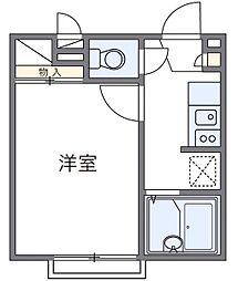 レオパレスWILL[2階]の間取り