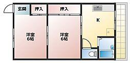 水野荘[5号室]の間取り