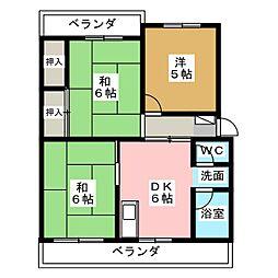 サンハイツ静山荘[3階]の間取り