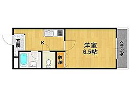 ソレイユ新伊丹[2階]の間取り