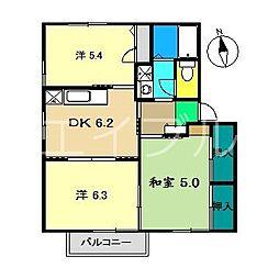 クレール林崎A棟[2階]の間取り