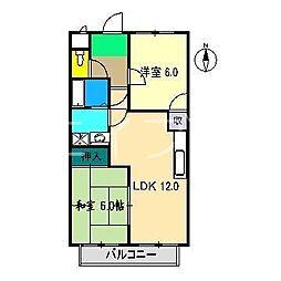ボーヴィラージュ和田 II[3階]の間取り