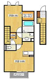 マロニエKINU[2階]の間取り