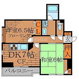ヒルトップ[3階]の間取り