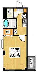 航空公園HAビルII[305号室号室]の間取り