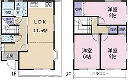 [一戸建] 徳島県徳島市中吉野町2丁目 の賃貸【/】の間取り