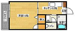 広島県広島市安佐南区緑井2丁目の賃貸アパートの間取り