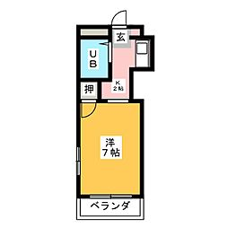 キャッスル片岡[5階]の間取り