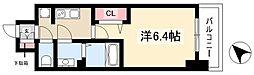 アステリ鶴舞トゥリア 11階1Kの間取り