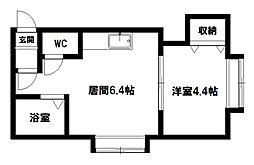 フラット・J麻生B[103号室]の間取り
