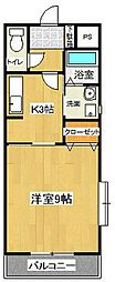 アイビーコート弐番館[1階]の間取り