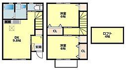 [タウンハウス] 愛知県岡崎市中町7丁目 の賃貸【愛知県 / 岡崎市】の間取り