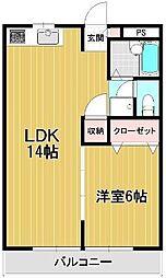 マンション築山第5[1階]の間取り