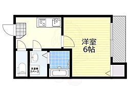 JR阪和線 杉本町駅 徒歩5分の賃貸アパート 2階1Kの間取り