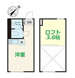 JR京浜東北・根岸線 東神奈川駅 徒歩10分の賃貸アパート 1階ワンルームの間取り