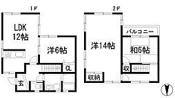 大阪府箕面市牧落3丁目の賃貸アパートの間取り